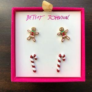 Betsey Johnson Hi Ho Holidays Earring Set